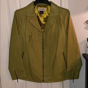 Chartreuse Leather Jacket